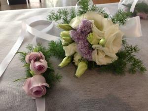 Polsiera per damigella e bouquet damigella