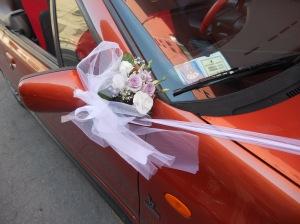 L'auto della sposa (dettaglio)