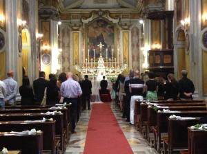 In chiesa: la cerimonia